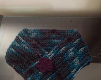 Cowl crochet scarf