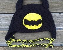 Batman Crocheted Hat
