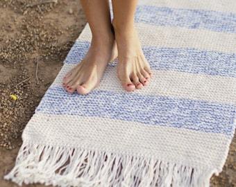 Carpet cotton bath mat cotton carpet rug small fringed rug