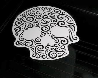 Sugar Skull Window Decal