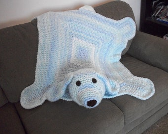 Crocheted Puppy Blanket - Toddler Blanket