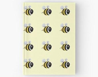 Bee Hardcover journal - baby bumble bee hardback diary