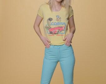 Vintage Blue Wrangler's // Deadstock Turquoise Denim // 70s Wrangler Jeans