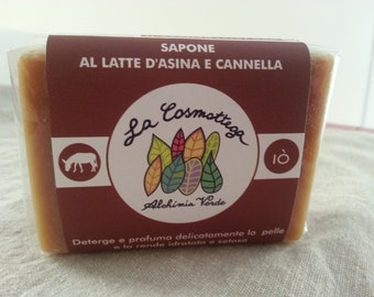 Donkey milk and cinnamon solid SOAP