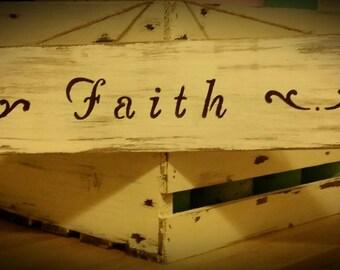 Rustic Wooden Faith sign