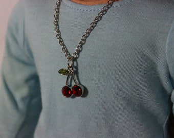 Cherry Bomb American girl Doll Necklace