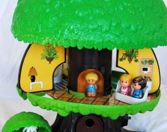 Kenner Family TREE TOTS Family Tree House Playset NEW, recreated walls & floors!