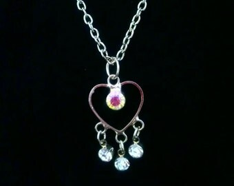 """Doll Jewelry Prism Heart Necklace 18"""" Doll American Girl Accessory"""