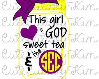 This girl loves God, sweet tea and the SEC SVG