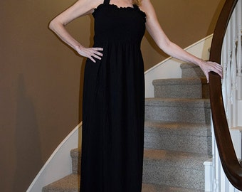 Elegant Maxi Halter Dress/Custom Made