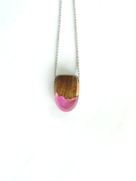 resin wood necklace epoxy resin wood resin jewelry by