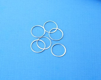 Sterling Silver Large Circle Link, Silver Halo, Silver Large Circle Link, QTY 1, 18mm Link, Halo, Connector, Large Round Link, SS408