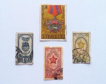 Order USSR, Soviet postage stamps, Soviet Order, Postage stamps USSR, Collectible stamps, vintage postage stamps, postage stamps 1940s
