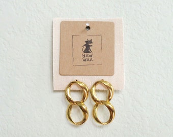 Tipper Vintage Gold Chain Link Earrings