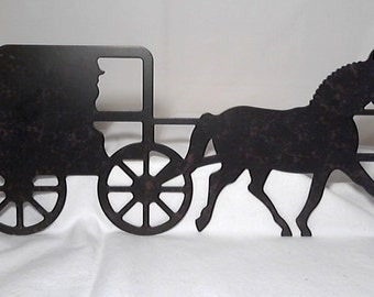 Amazon.com : Amish Horse and Buggy Approximate Size Is 10 ... |Metal Horse And Buggy Silhouette