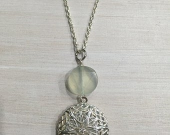 New Jade (Serpentine) Essential Oil Diffuser Necklace