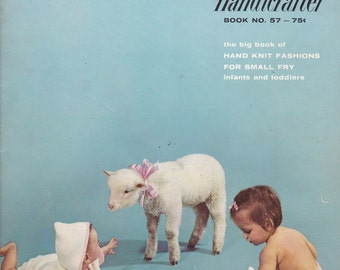 Bernat Handicrafter  Book 57- Patterns for Babies and Toddlers Vintage Crochet and Knitting Book 1957