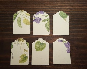 6 Floral Gift Tags