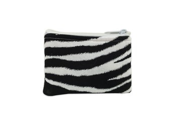 Zebra Print Coin Bag // Change Purse // Pouch