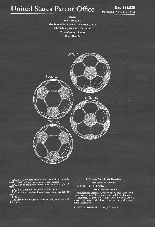 Soccer Patent Prints