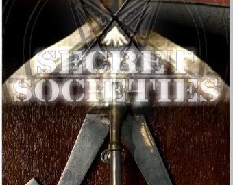 Free Masons Secret Societites LAMINATED Cornhole Wrap Bag Toss Decal Baggo Skin Sticker Wraps