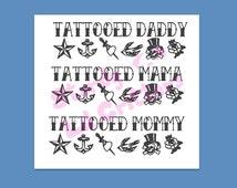 Tattooed Parent - Tattoos - Tattoo - Tattooed Mommy - Tattooed Daddy - American Traditional Tattoos - Skull - Anchor - Star - Swallow - Rose