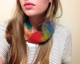 Rainbow Wool Cowl