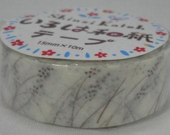 2016 Seal-do Iroha-Washi Masking Tape 15mm x 10m Wild Grass Shinzi Katoh ks-wt-10023