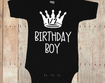 Half birthday boy bodysuit, 1/2 birthday boy bodysuit, half birthday crown bodysuit, birthday boy bodysuit, half birthday boy prince