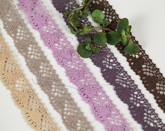 Noble Torsion Lace 18 mm, 3 meter - 3,27 yards or 9,84 feet, 5 colours available