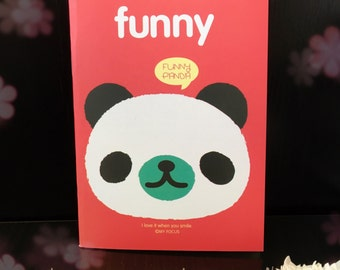 Funny Panda Notebook/ Paper / To-do list / Shopping list / Notepad / Stationery / Diary / Office / Desk / School