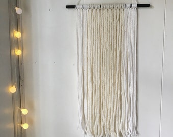 Minimalist Wall Hanging // Cream and While