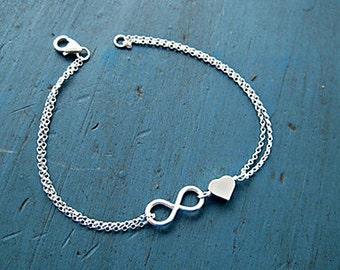 Infinity Infinite Love Alloy Bracelet Sister Mother Lover Gift