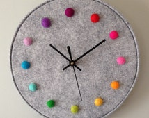 Unique Rainbow Wall Clock Related Items Etsy