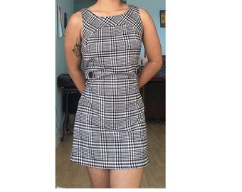 Sz S/M brown patterned dress