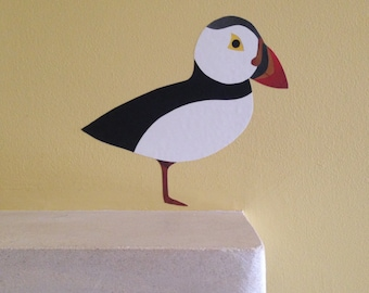 Puffin wall sticker - Puffin decal - Puffin art - Puffin - Bird wall sticker - Bird wall decal - Wall Sticker - Arctic bird - Puffin Decor