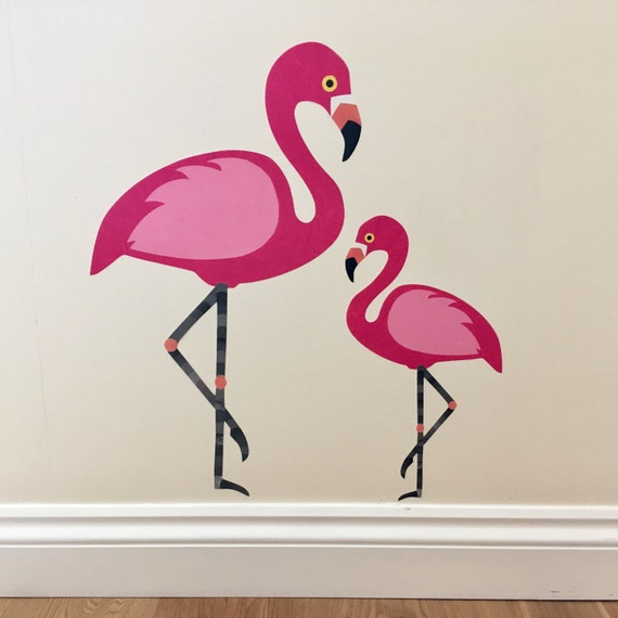 Flamingo Wall Decals Flamingo Wall Stickers Flamingo Mural
