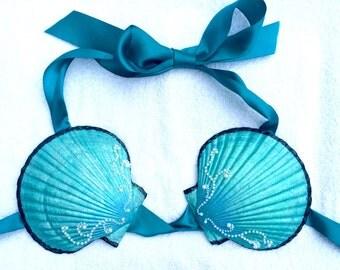 Mermaid Clamkini - Custom Swimmable Seashell Bikini Bra - Made to Order