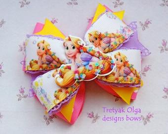 Disney Princess Rapunzel Hair Bow -Tangled Hair Bow -Tangled Birthday -Rapunzel Birthday -Rapunzel Costume