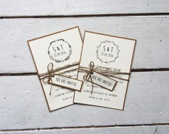 rustic wedding invitation, rustic wedding, boho wedding, bohemian invitation
