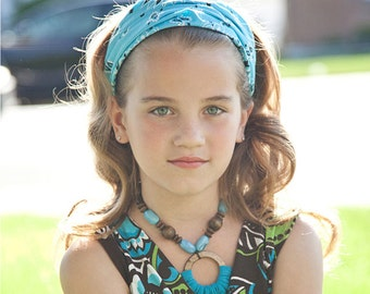 Extra Wide Bandana Light Blue Bandanna Headscarf Girls Head Wrap Headscarves Bandana Hair Scarf Blue Hair Loss Headcover (#2009)