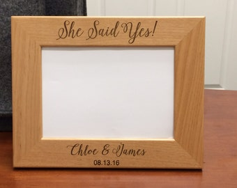 Bridal Shower Gift, Wedding Gift, Bride to Be Gift, Engagement Gift Ideas, She Said Yes Picture Frame, Engagement Gift, Engagement Gifts