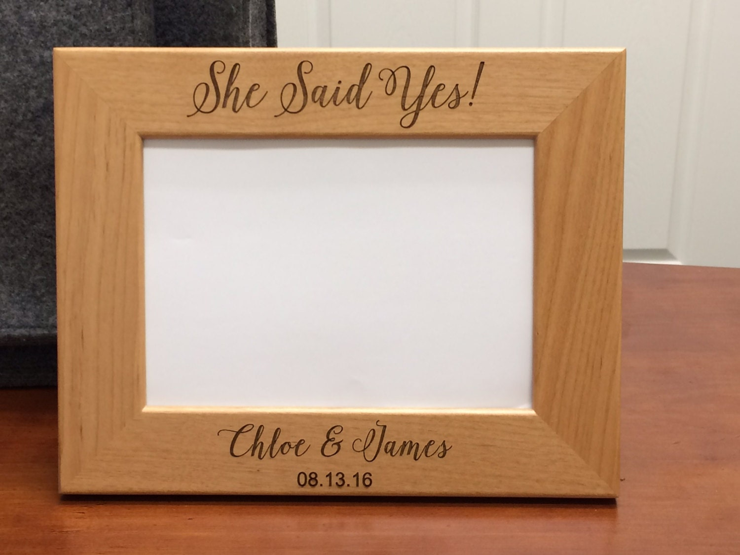 Wedding Gift Frame: She Said Yes Frame Engagement Gift Engagement Gifts Bridal