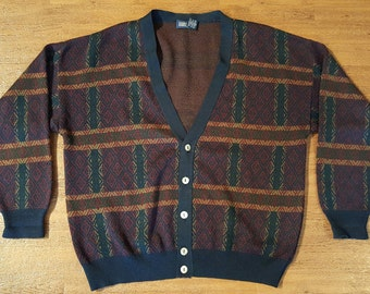 Vintage Lands End Sweater 1990s Cardigan Sweater 1990s Normcore Sweater 1990s Grunge Mr Rogers Sweater 90s Fashion 1990s Grandpa Sweater