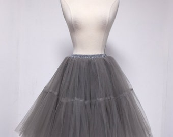 Gray Angel Tulle Skirt