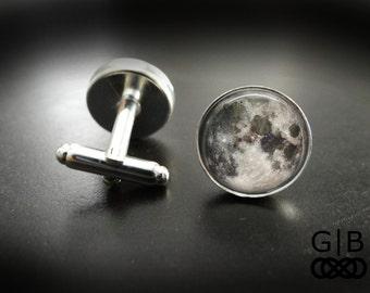 Moon Cuff Links Full Moon Cufflinks Accessories - Full Moon Suit Accessory - Full Moon Cufflinks - Full Moon Cuff Links Moon Accessories