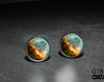 Out of This World Studs Earrings Space Nebula Jewelry - Space Nebula Jewelry Studs - Nebula Space Studs Earrings - World Space Studs Jewelry