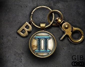 ON SALE Gemini Astrology Keychain Gemini Accessories - Gemini Astrology Accessories Gemini Birthday Present - Gemini Birthday Gift Accessori