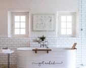 Get Naked Bath Tub Shower Door Decal Sticker