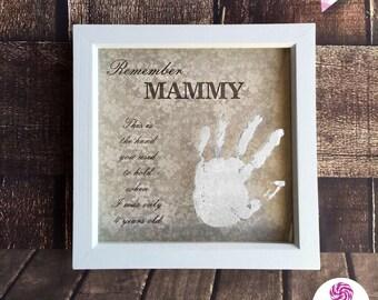Engraved Handprint Frame